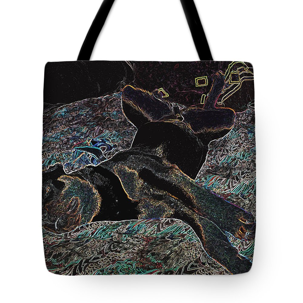 Rottweiler Paintings Tote Bag featuring the photograph It's A Dogs Day by Mayhem Mediums