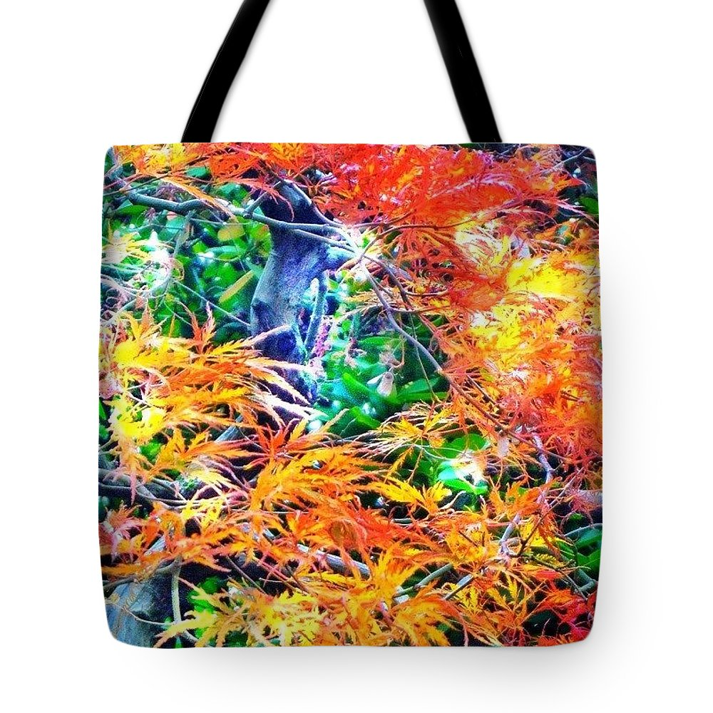 Autumn Tote Bag featuring the photograph Its A Jungle Out There by Anna Porter
