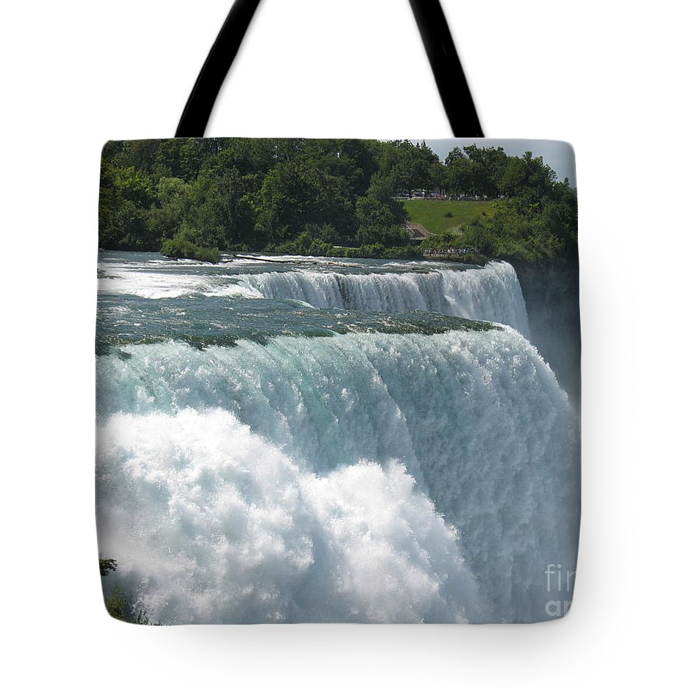 Waterfalls Tote Bag featuring the photograph It's A Long Way Down by Jeffery L Bowers