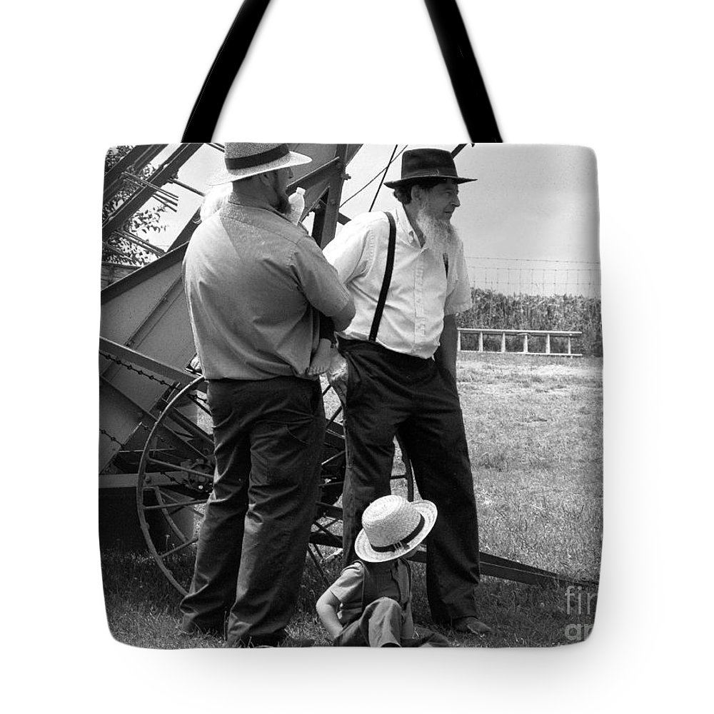 Amish Tote Bag featuring the photograph It's A Nice Day For This by Tina M Wenger