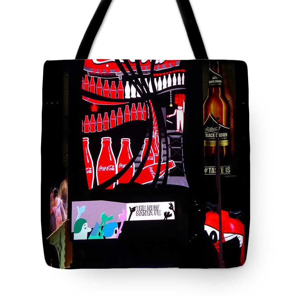 New York City Tote Bag featuring the photograph It's A Sign by Jennifer Wheatley Wolf
