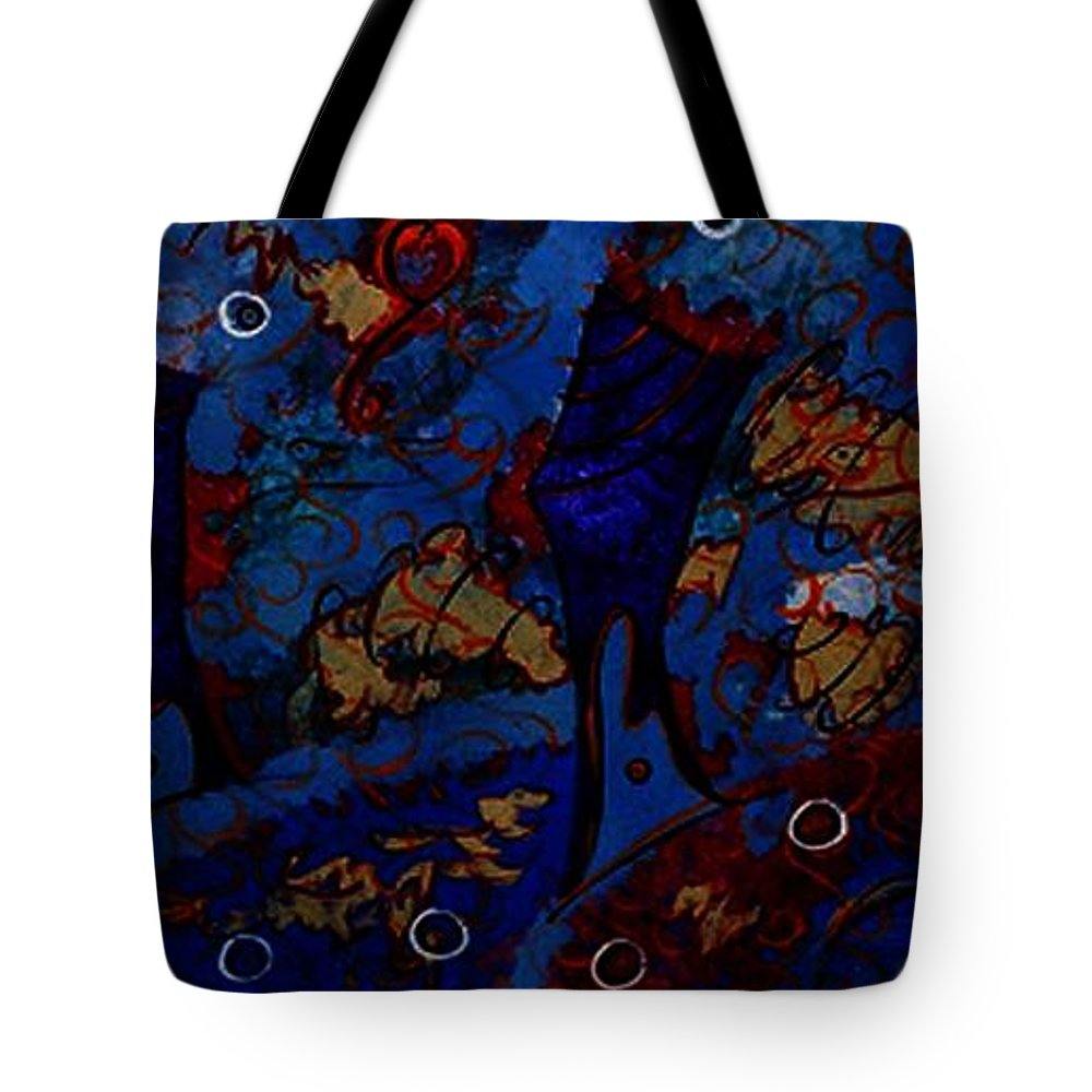it's A Whirlwind Tote Bag featuring the painting It's A Whirlwind by Donna Daugherty
