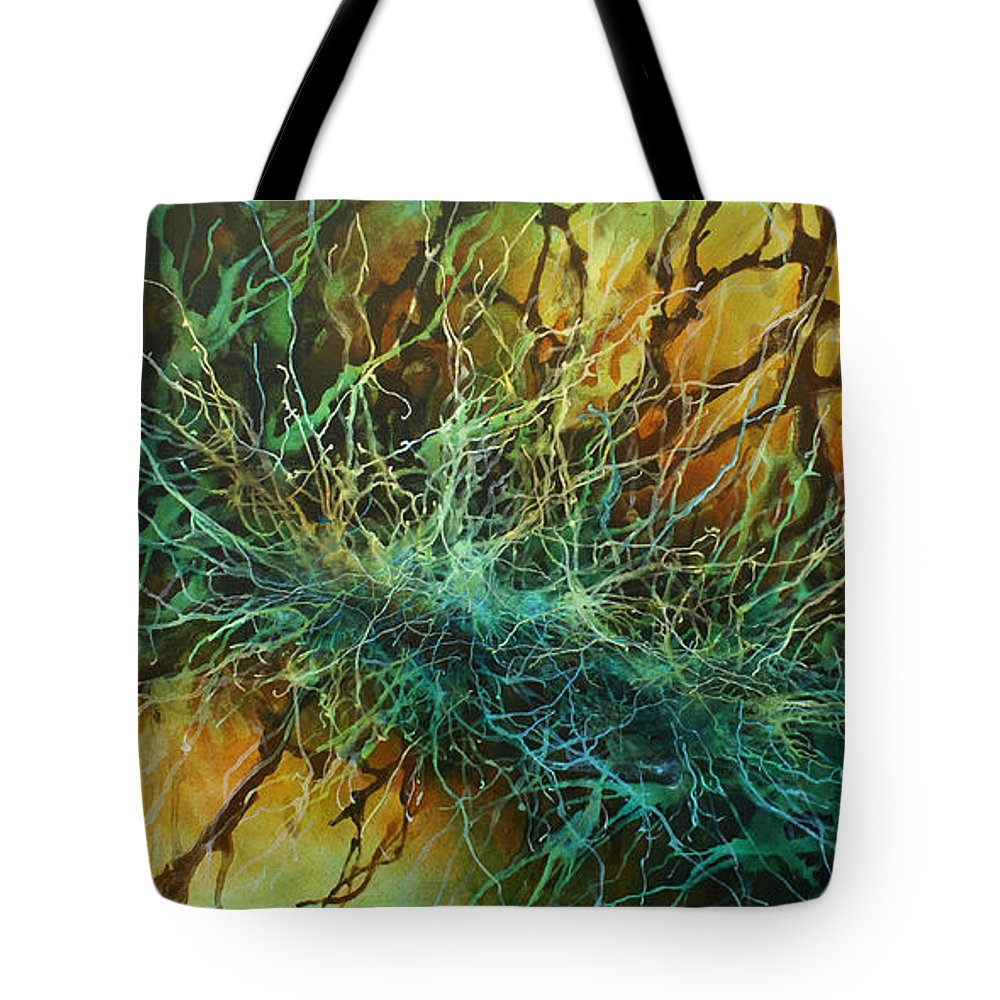 Abstract Tote Bag featuring the painting 'its Complicated' by Michael Lang