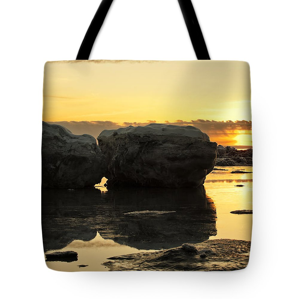 Sunset Tote Bag featuring the photograph It's Golden by Ted Raynor