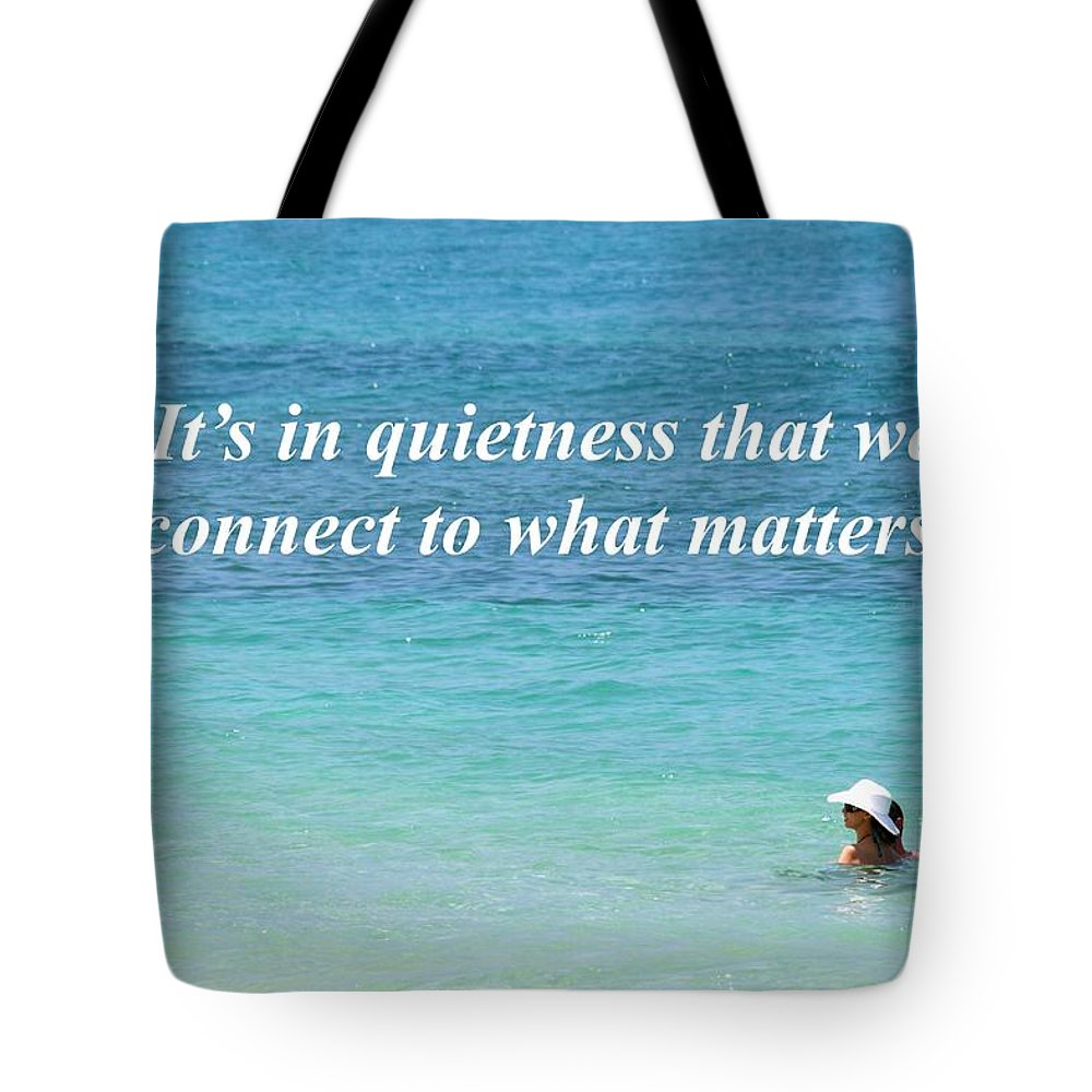 Ocean Tote Bag featuring the photograph It's In Quietness by Pharaoh Martin