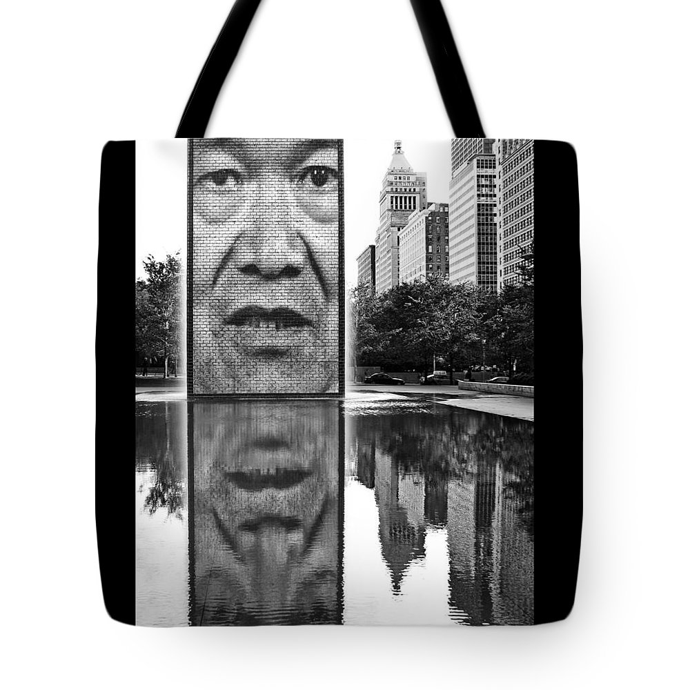 Chicago Tote Bag featuring the photograph I've Just Seen A Face by Nikolyn McDonald