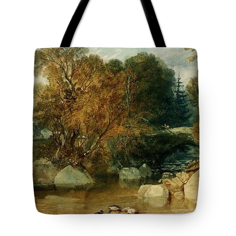 1813 Tote Bag featuring the painting Ivy Bridge by JMW Turner