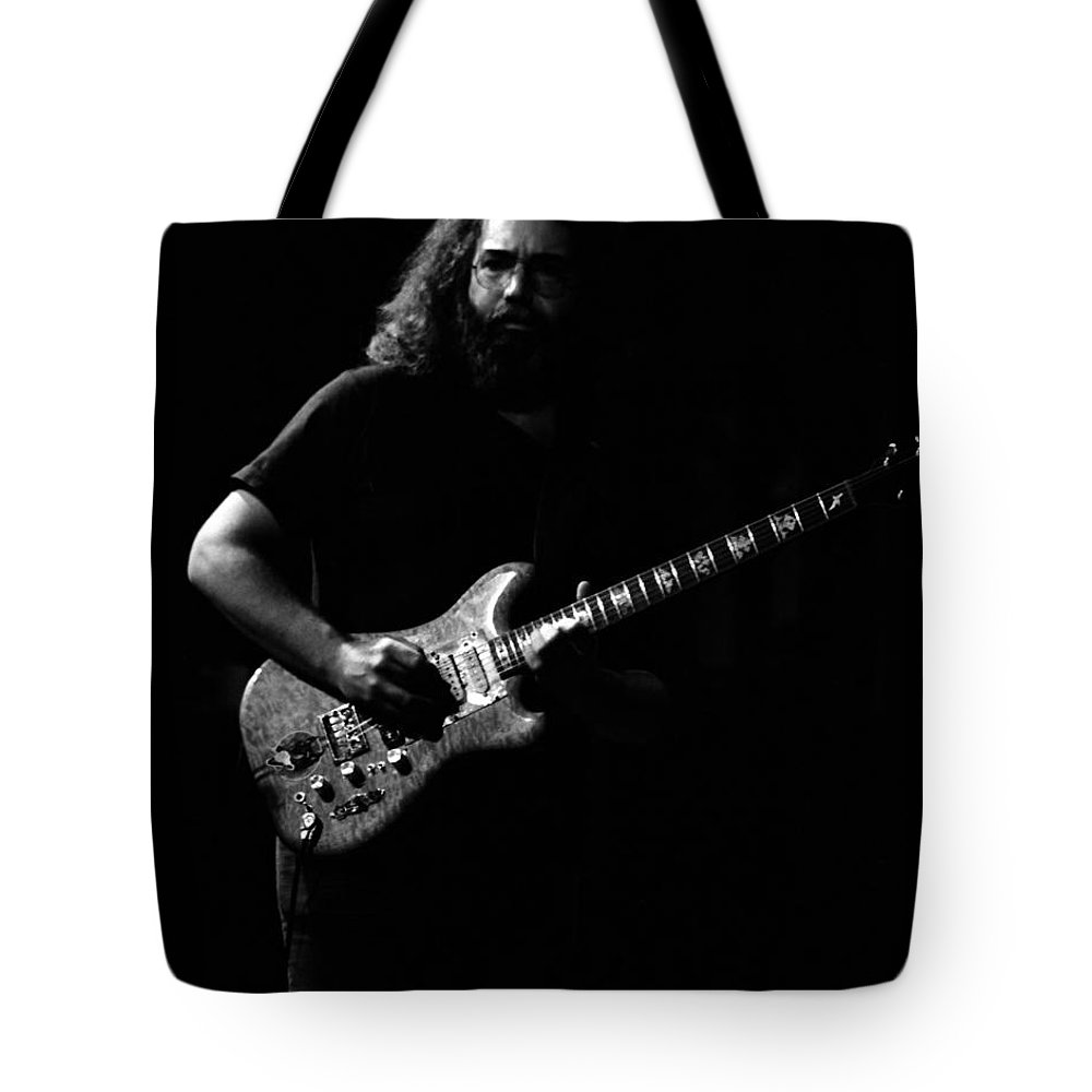 Jerry Garcia Tote Bag featuring the photograph J G B #11 by Ben Upham