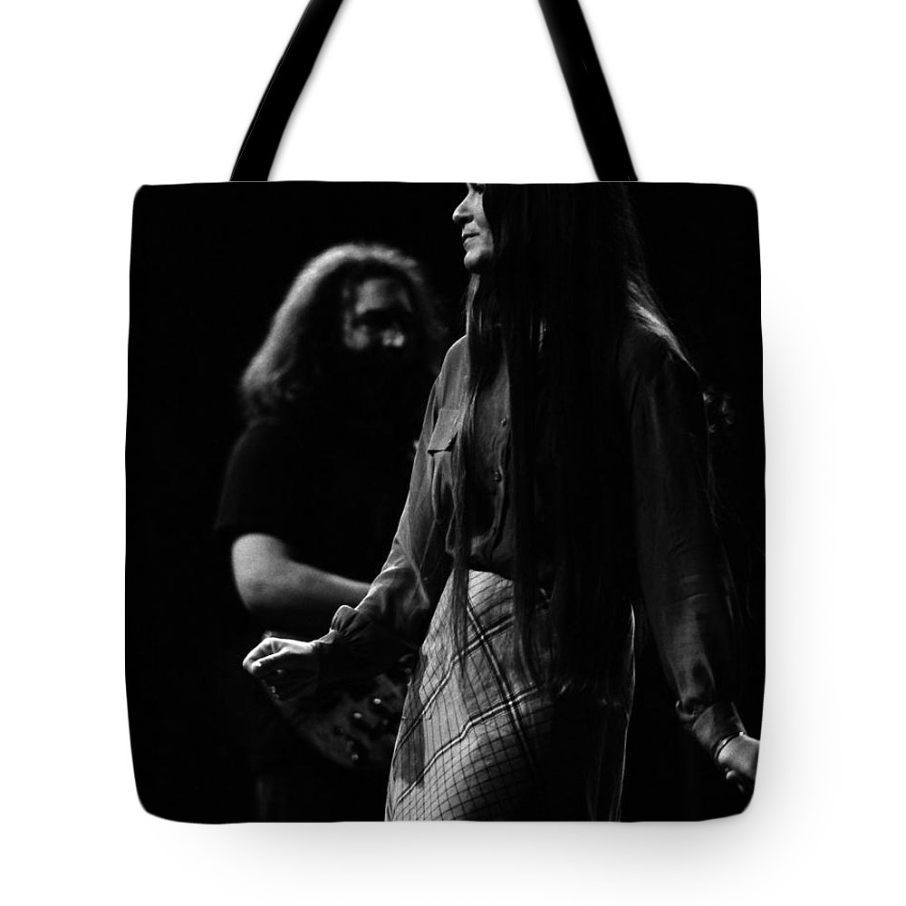 Jerry Garcia Tote Bag featuring the photograph J G B #14 by Ben Upham