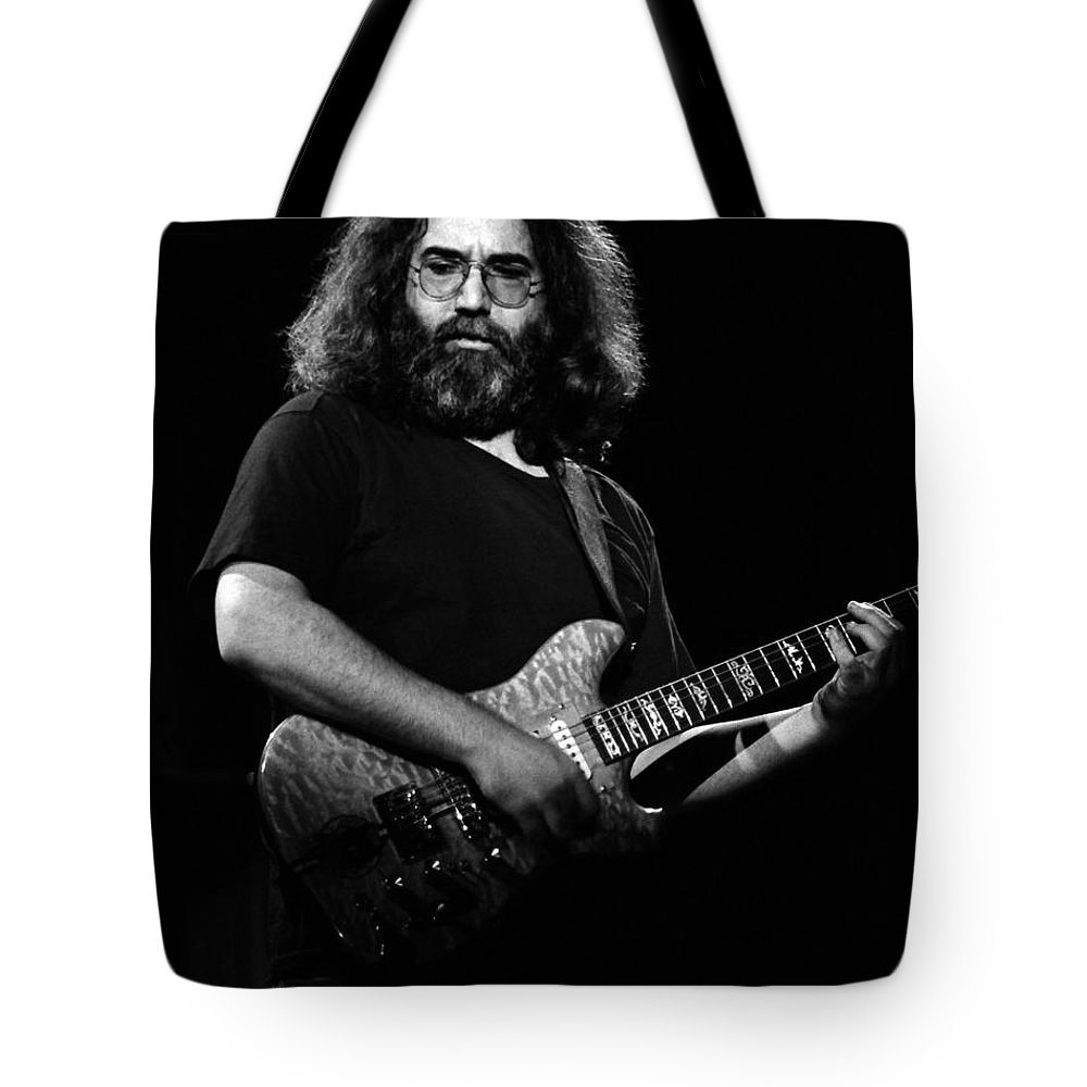 Jerry Garcia Tote Bag featuring the photograph J G B #22 by Ben Upham