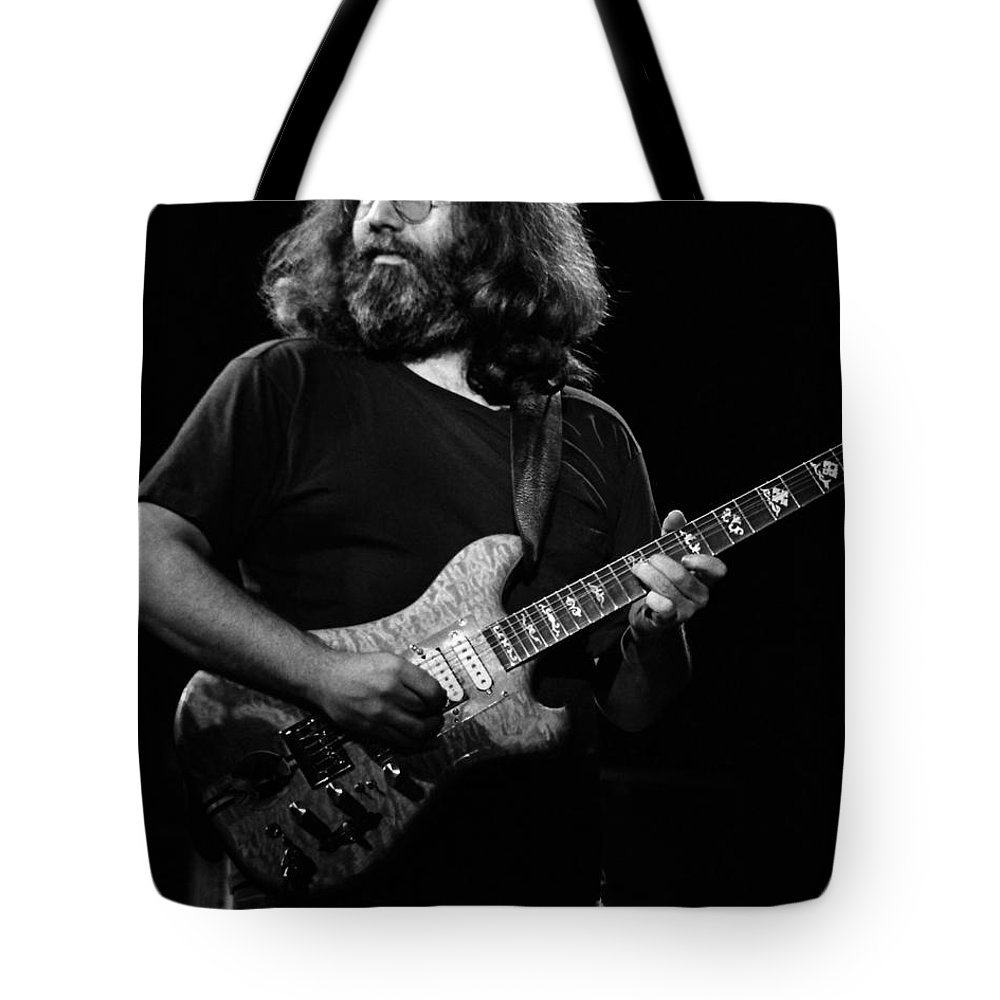 Jerry Garcia Tote Bag featuring the photograph J G B #24 by Ben Upham