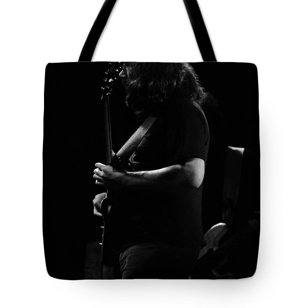 Jerry Garcia Tote Bag featuring the photograph J G B #4 by Ben Upham