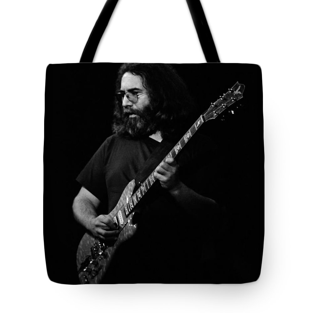 Jerry Garcia Tote Bag featuring the photograph J G B #8 by Ben Upham