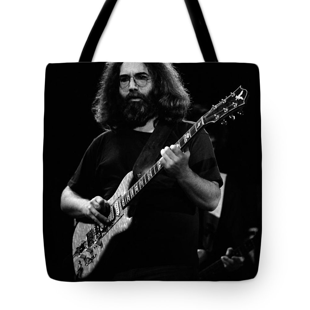 Jerry Garcia Tote Bag featuring the photograph J G B #9 by Ben Upham