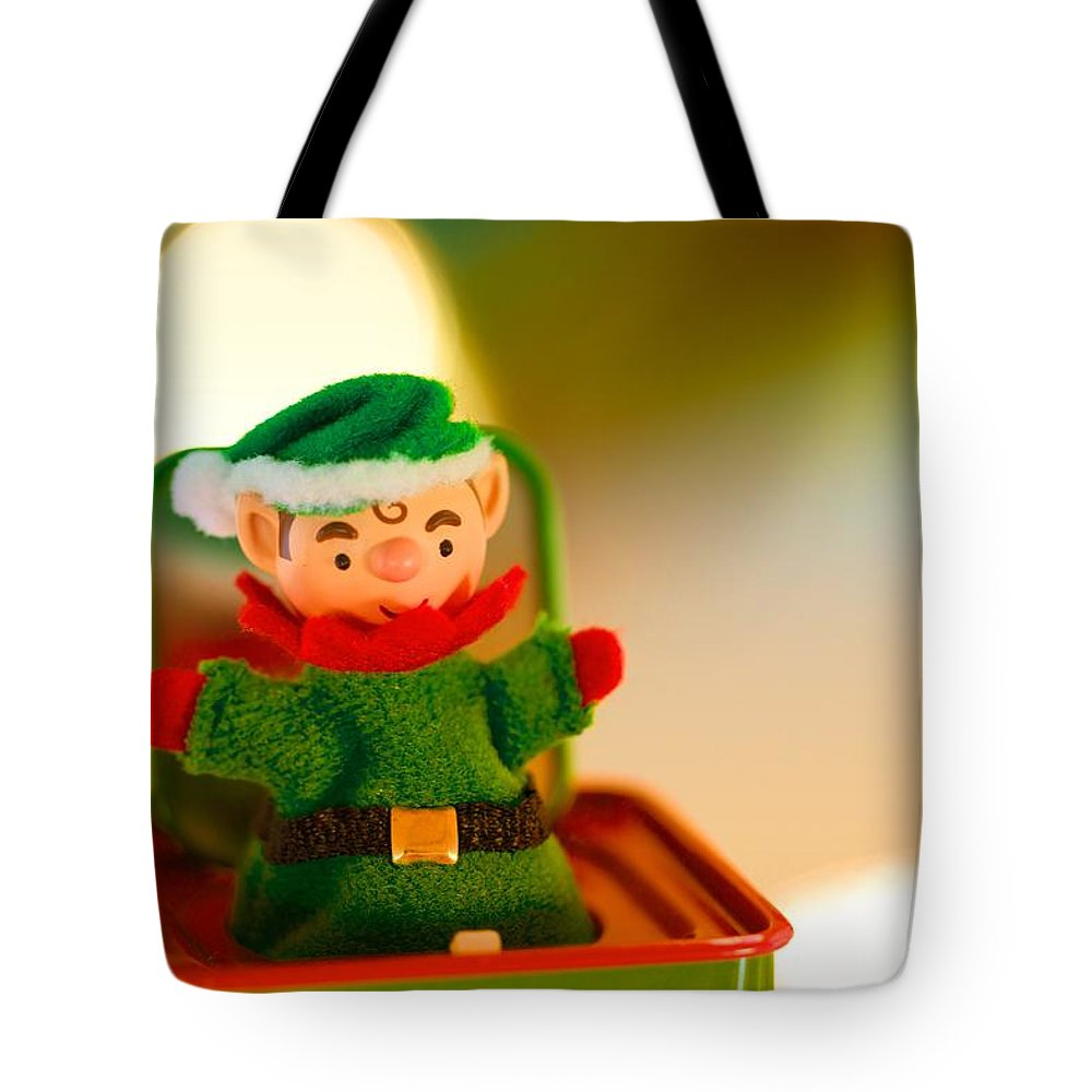 Jack-in-the-box Tote Bag featuring the photograph Jack-in-the-box by Jade Moon