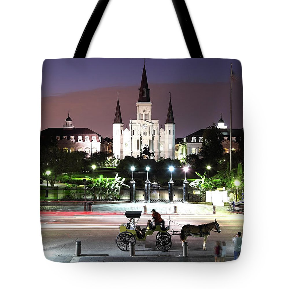 Southern Usa Tote Bag featuring the photograph Jackson Square by Denistangneyjr