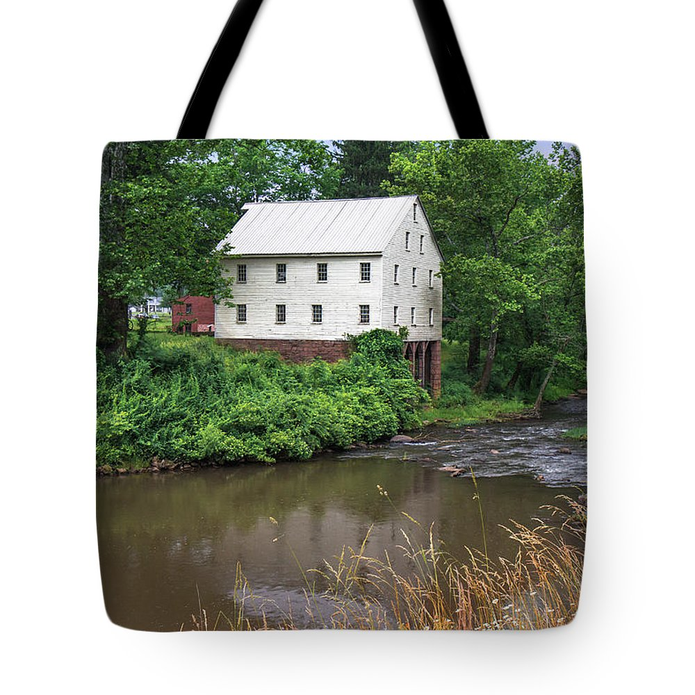 Jackson's Mill Tote Bag featuring the photograph Jacksons Mill In The Rain by Mary Almond