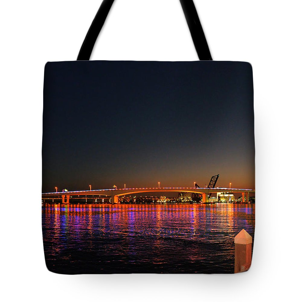 Jax Tote Bag featuring the photograph Jacksonville Acosta Bridge by Christine Till
