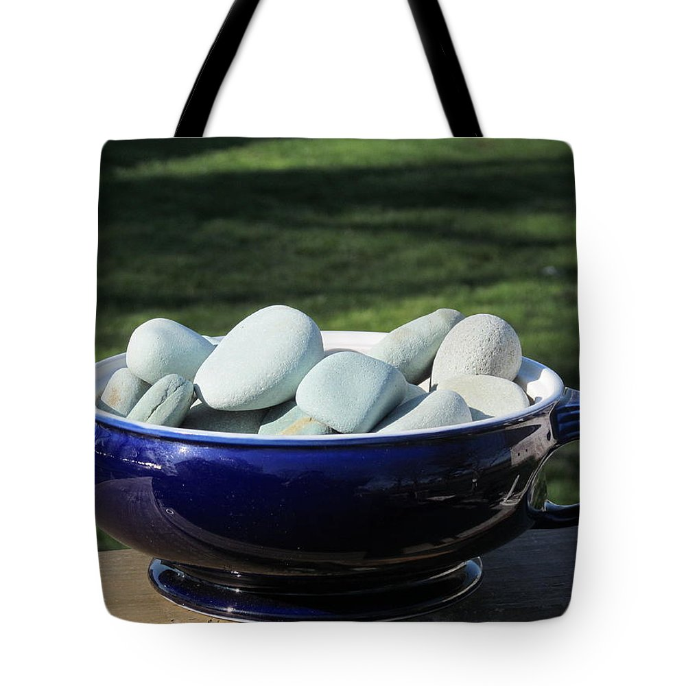 Rock Tote Bag featuring the photograph Jade Rocks by Tina M Wenger