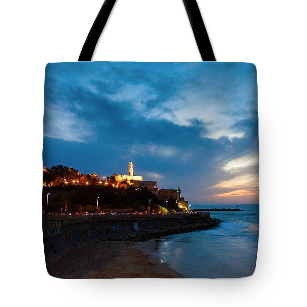 Jaffa Tote Bag featuring the photograph Jaffa by Alexey Stiop