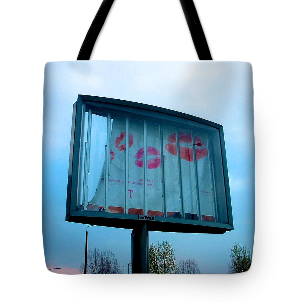 Kiss Tote Bag featuring the photograph Jail Break by Marc Philippe Joly