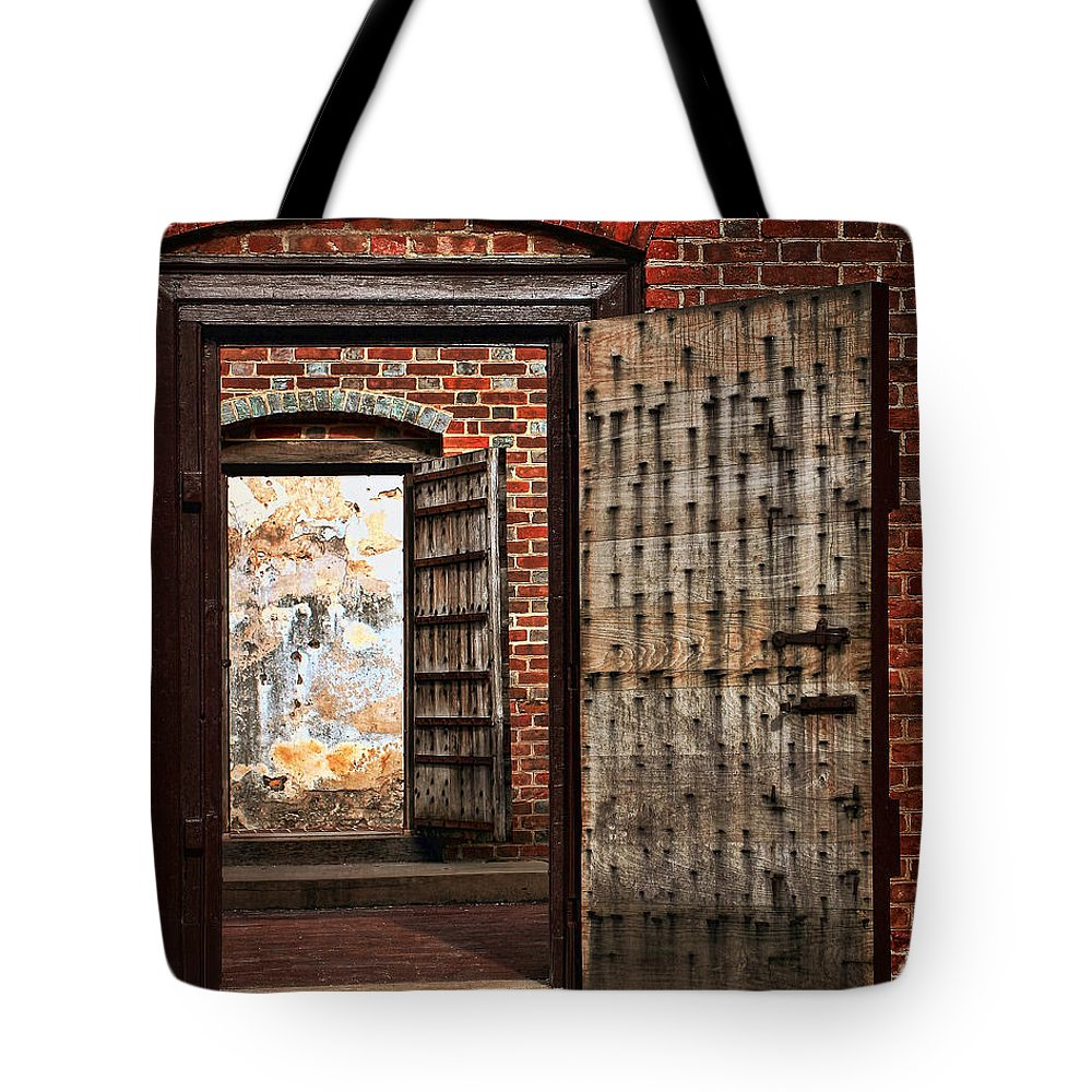 Architecture Tote Bag featuring the photograph Jailed by Marcia Colelli