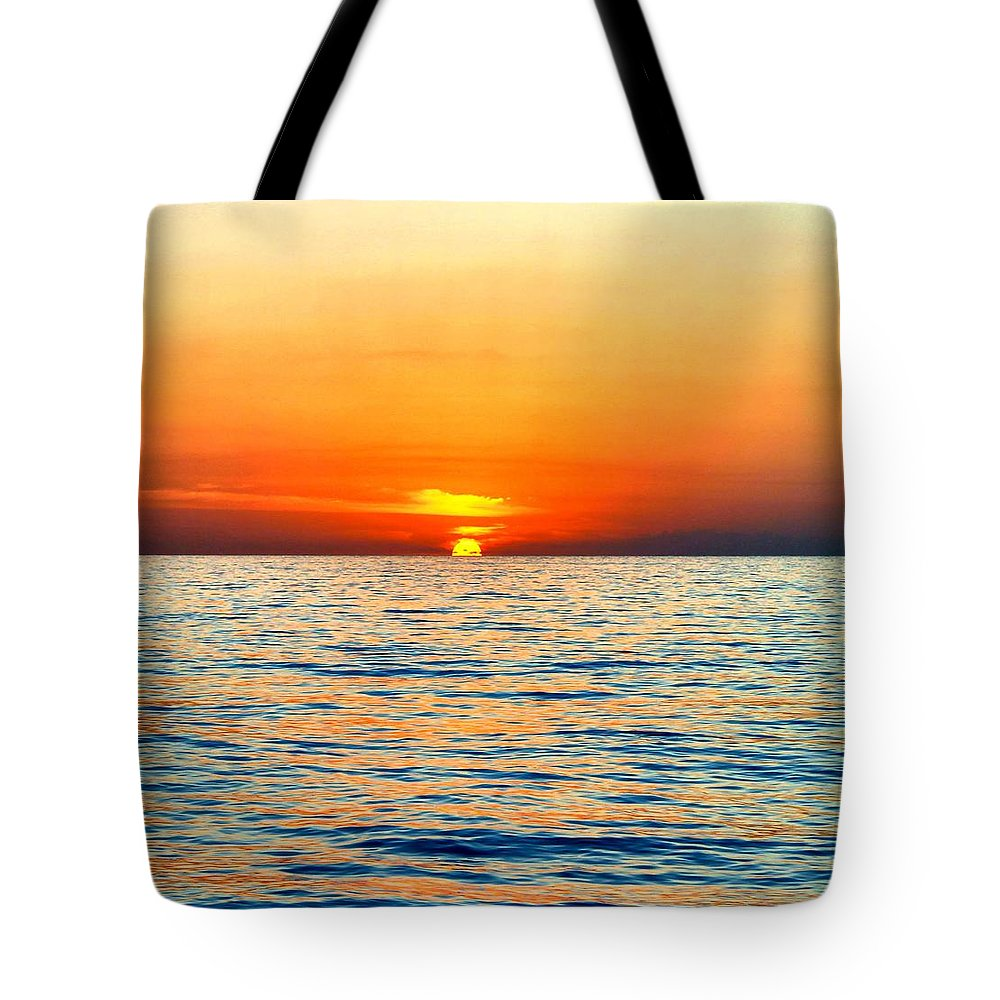 Jamaica Tote Bag featuring the photograph Jamaican Sunset2 by Debbie Levene