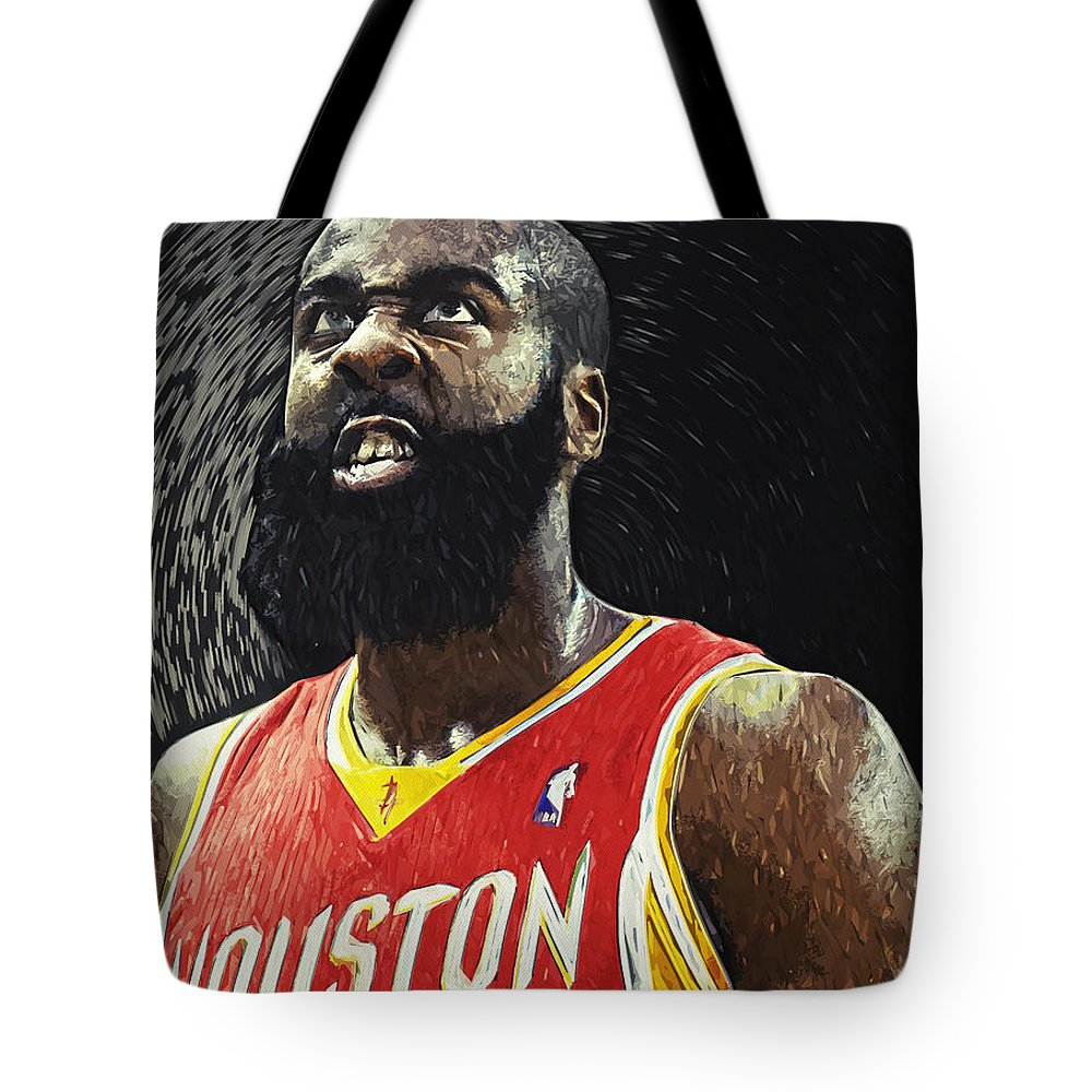 James Harden Tote Bag featuring the digital art James Harden by Zapista OU