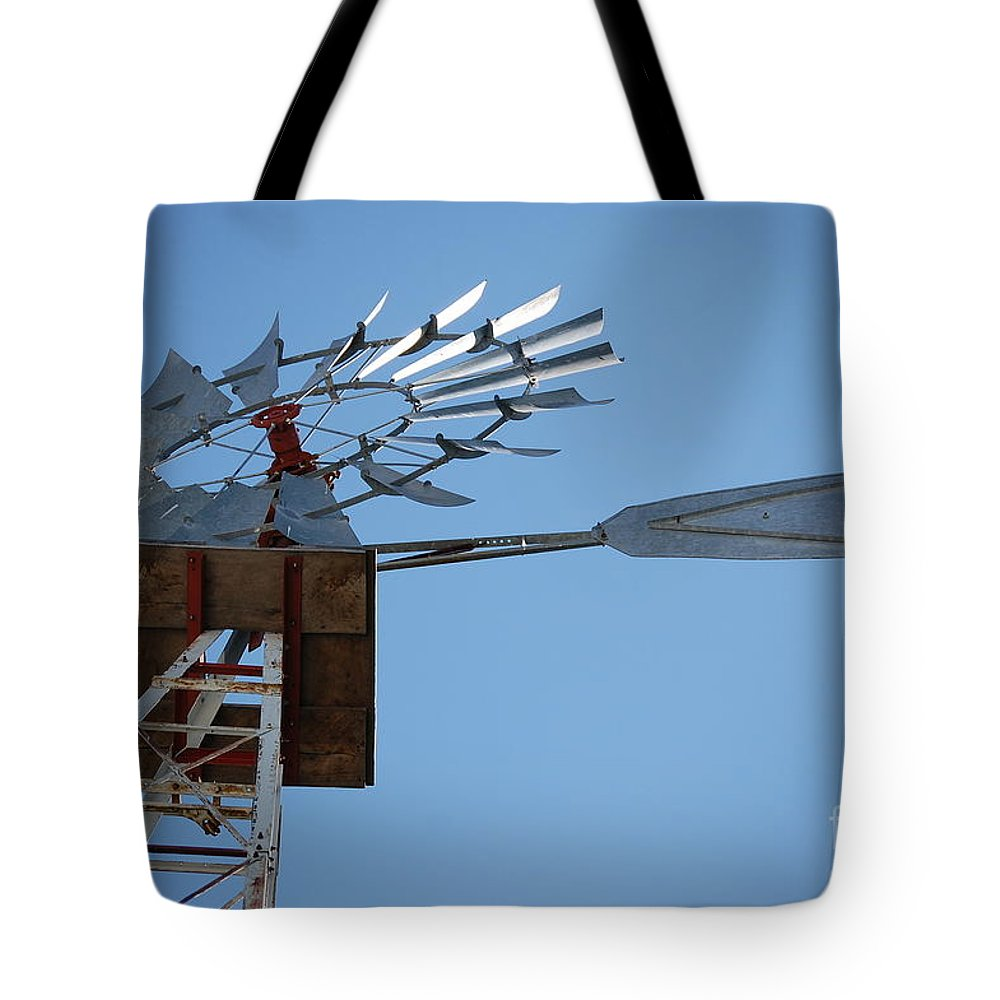 First Star Art Tote Bag featuring the photograph Jammer Windmill 001 by First Star Art