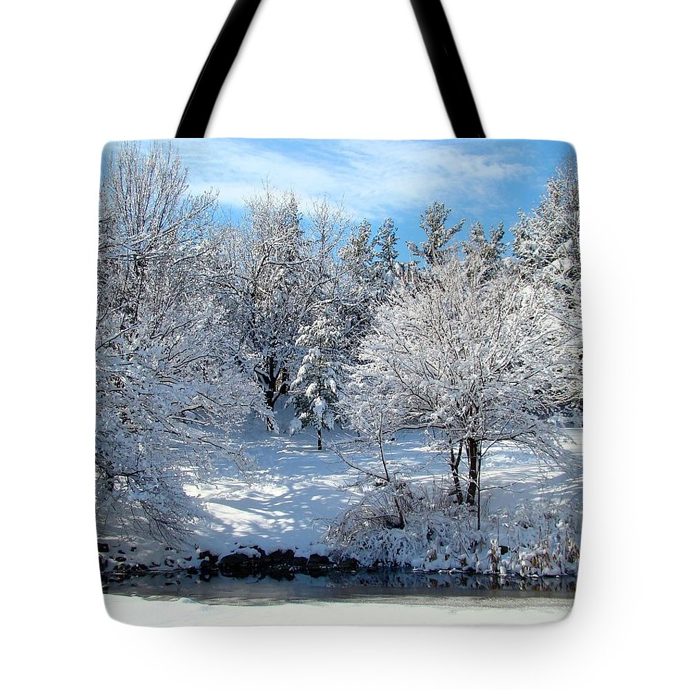 Snow Covered Trees Tote Bag featuring the photograph January Trees by Gothicrow Images