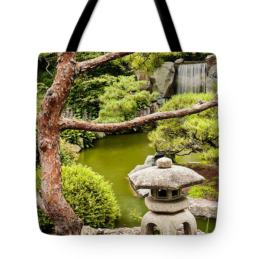 Japanese Garden Tote Bag featuring the photograph Japanese Garden by Joe Mamer