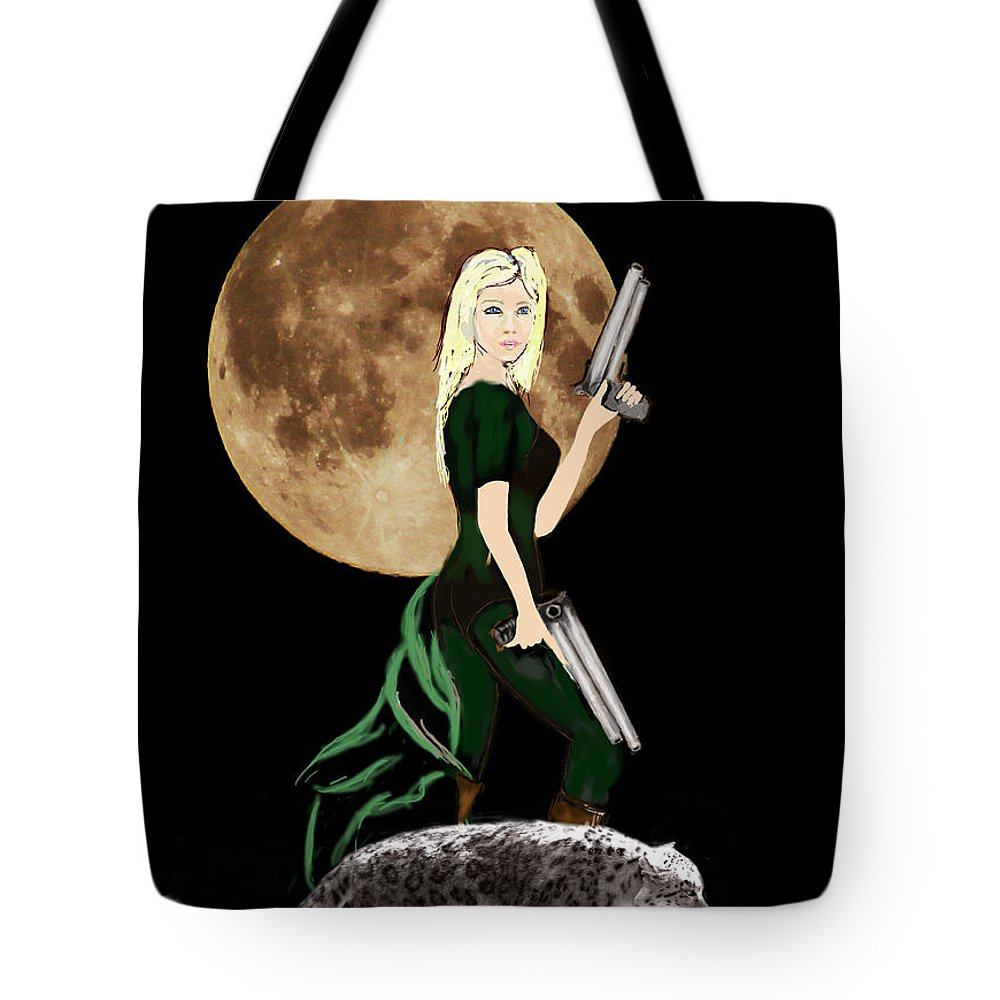 Fantasy Art Tote Bag featuring the photograph Jasmine and the Snow Leopard by Tom Conway