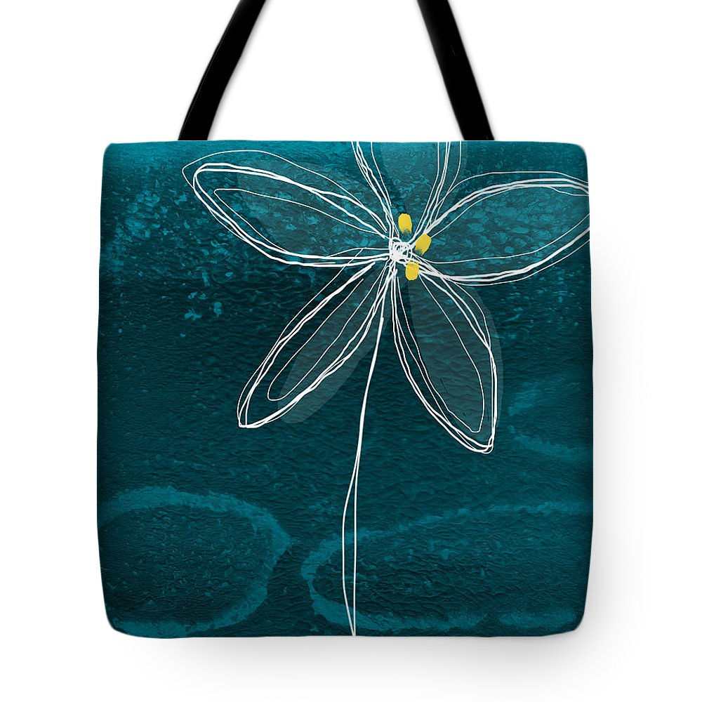 Abstract Tote Bag featuring the painting Jasmine Flower by Linda Woods