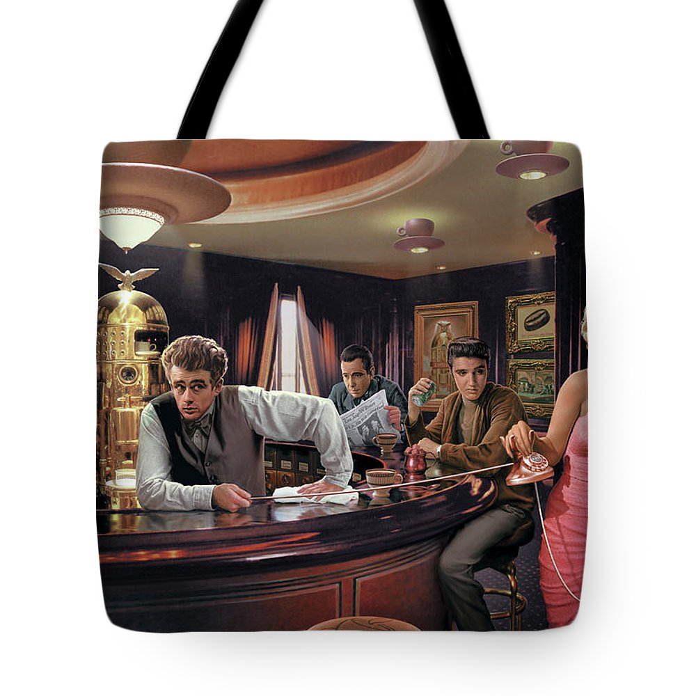 Marilyn Monroe Tote Bag featuring the painting Java Dreams by Chris Consani