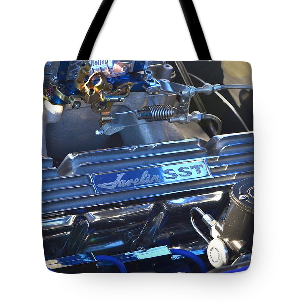 Tote Bag featuring the photograph Javelin Sst V-8 Engine by Dean Ferreira