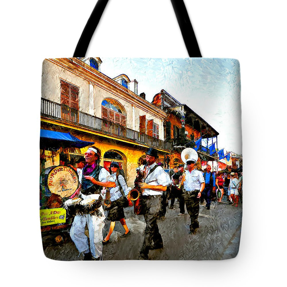 French Quarter Tote Bag featuring the photograph Jazz Funeral II by Steve Harrington