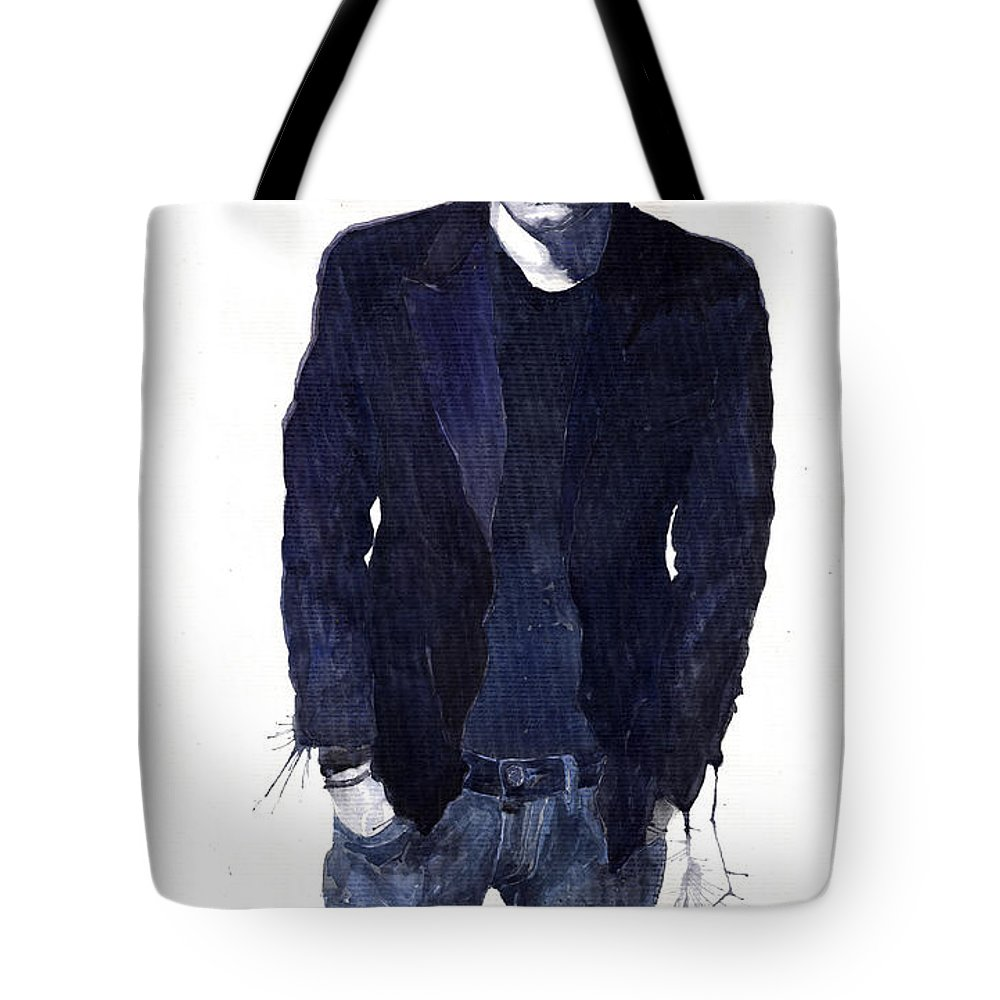 Jazz Tote Bag featuring the painting Jazz Rock John Mayer 07 by Yuriy Shevchuk