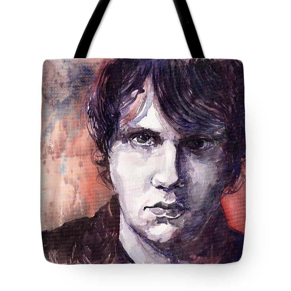 Jazz Tote Bag featuring the painting Jazz Rock John Mayer by Yuriy Shevchuk