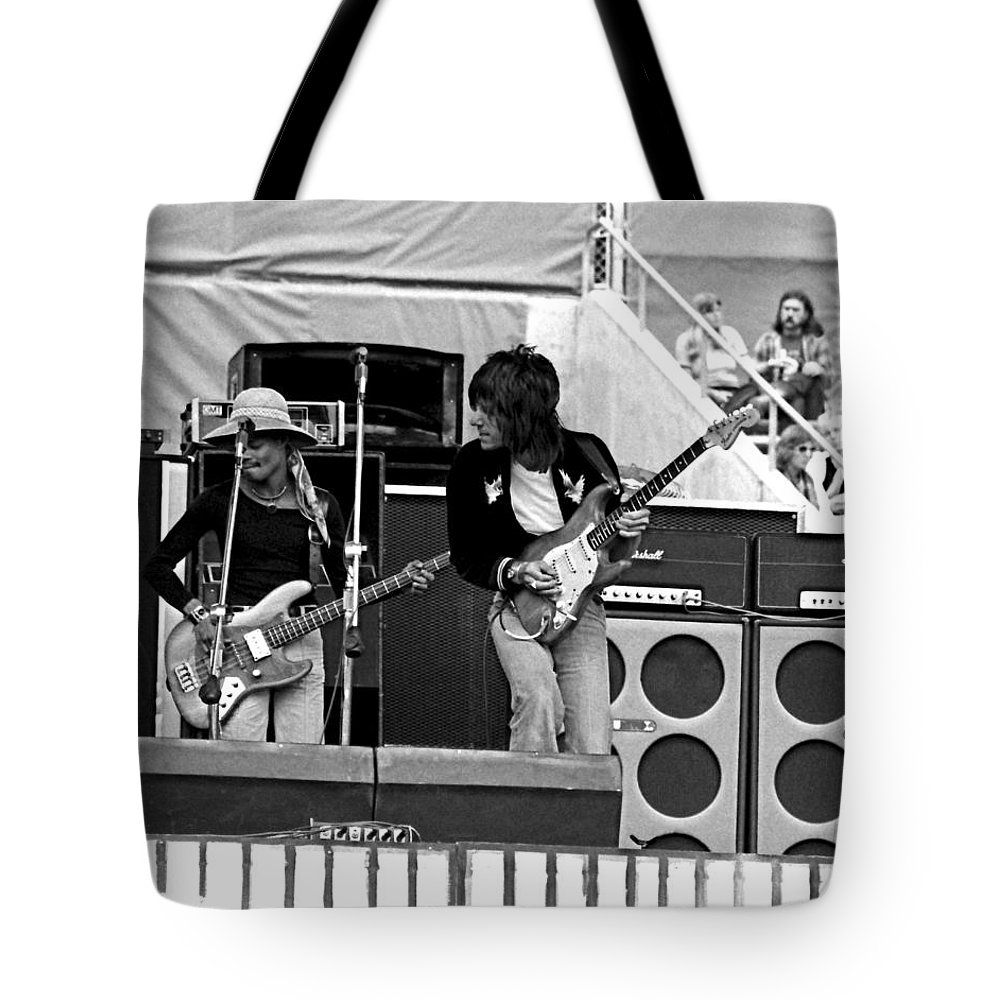 Jeff Beck Tote Bag featuring the photograph Jb #13 by Ben Upham