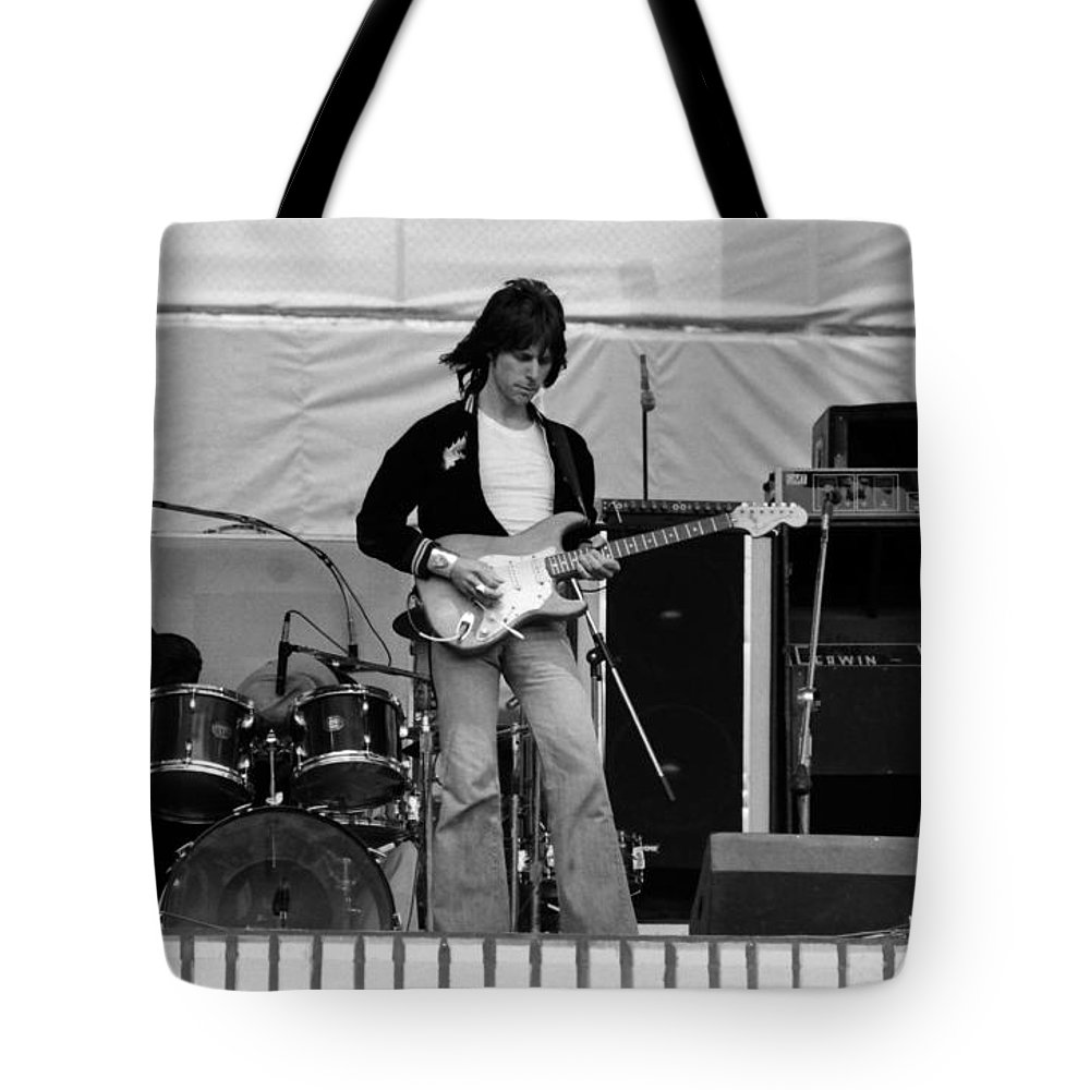 Jeff Beck Tote Bag featuring the photograph Jb #15 by Ben Upham