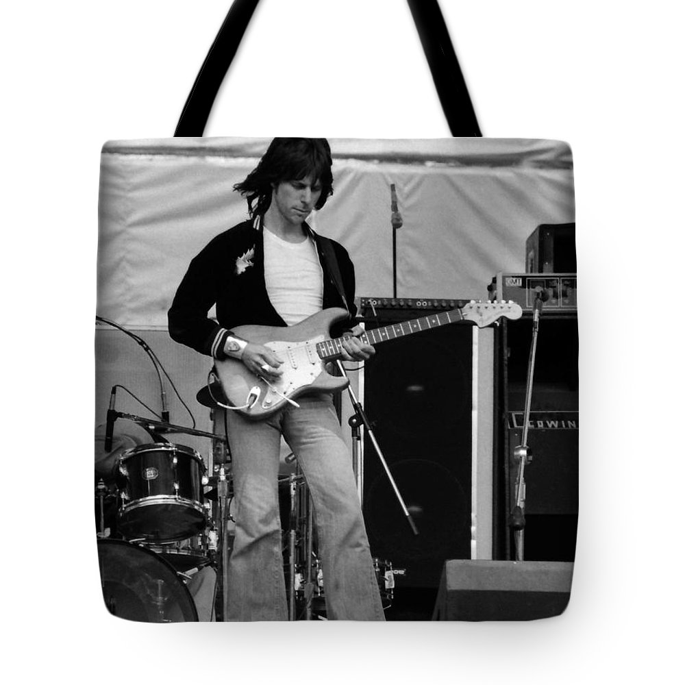Jeff Beck Tote Bag featuring the photograph Jb #15 Crop 2 by Ben Upham