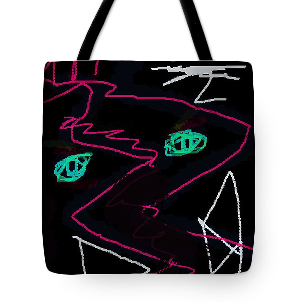 Paul Sutcliffe Tote Bag featuring the drawing Jean Paul Sartre Nausea Poster by Paul Sutcliffe