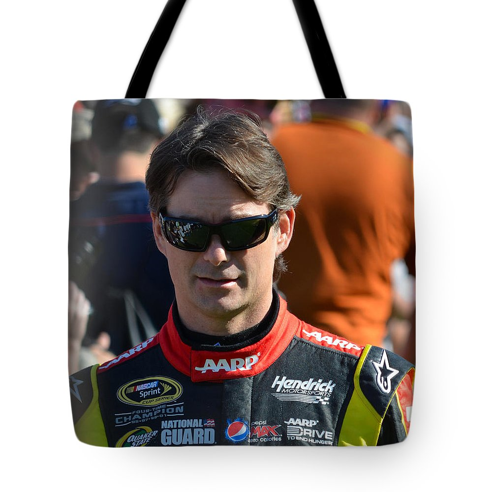 Nascar Driver Tote Bag featuring the photograph Jeff Gordon by Mark Spearman