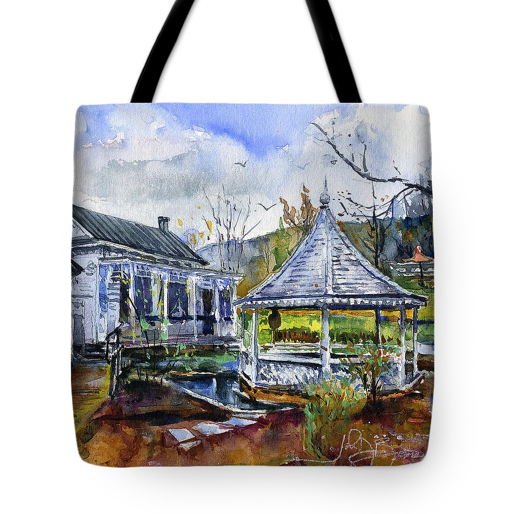 Jefferson Pools Tote Bag featuring the painting Jefferson Pools by John D Benson