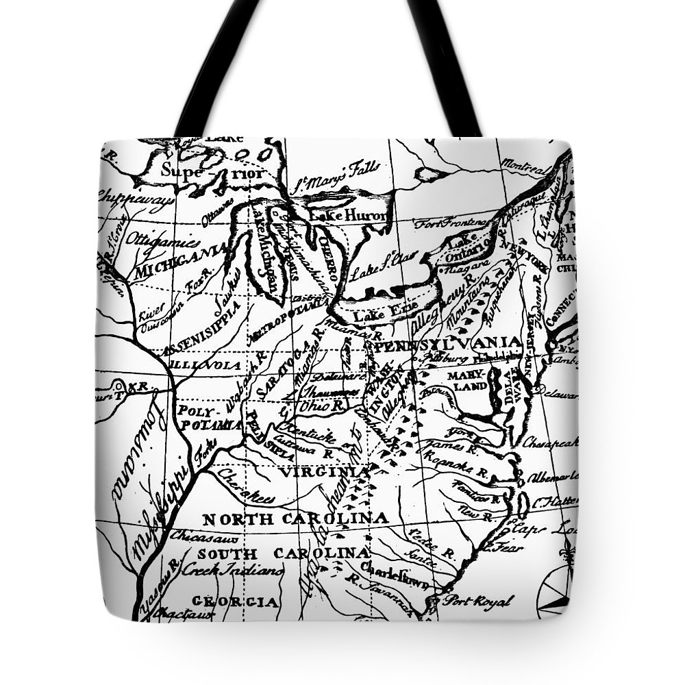 1784 Tote Bag featuring the photograph Jefferson: States, 1784 by Granger