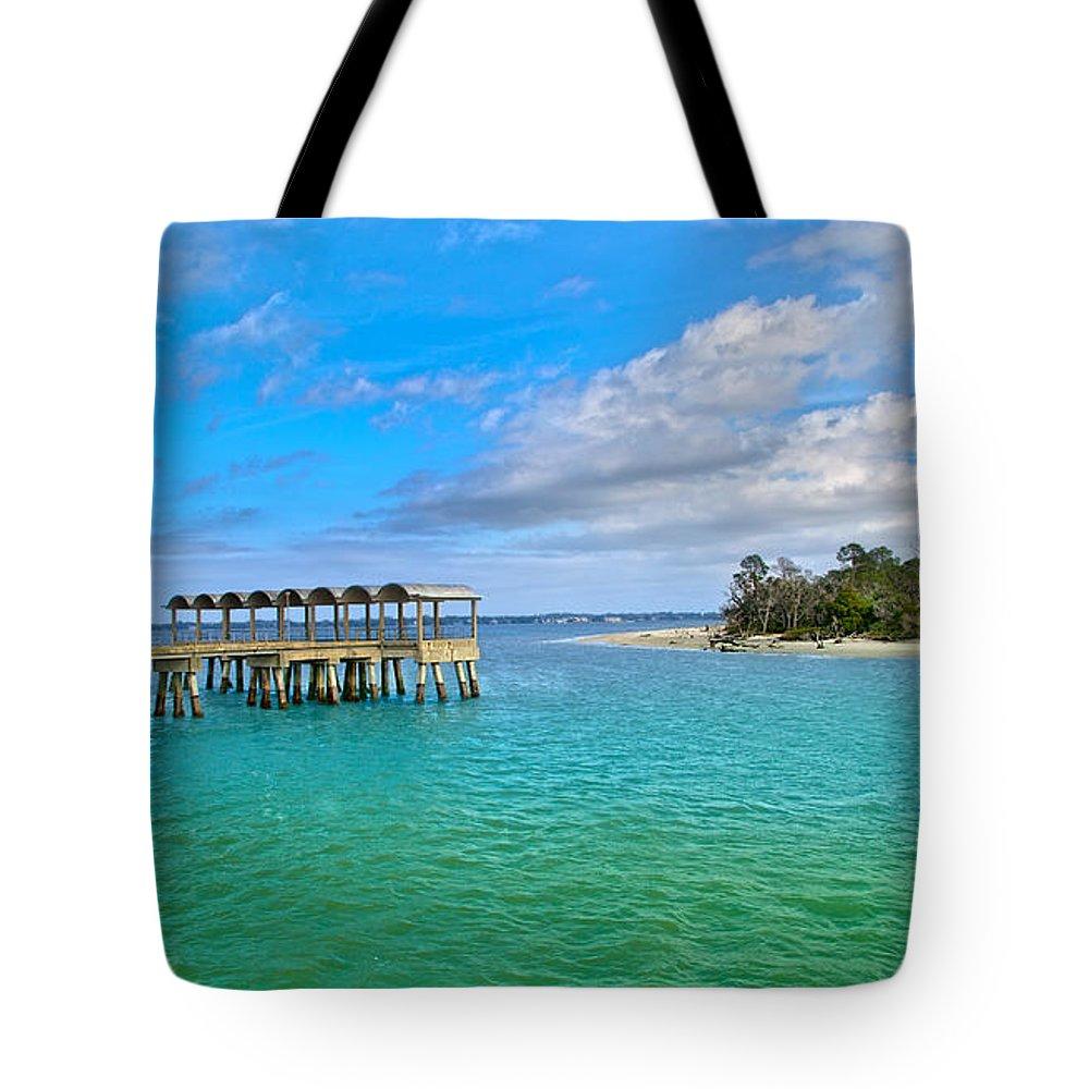 Jekyll Tote Bag featuring the photograph Jekyll Island Just Like Paradise by Betsy Knapp