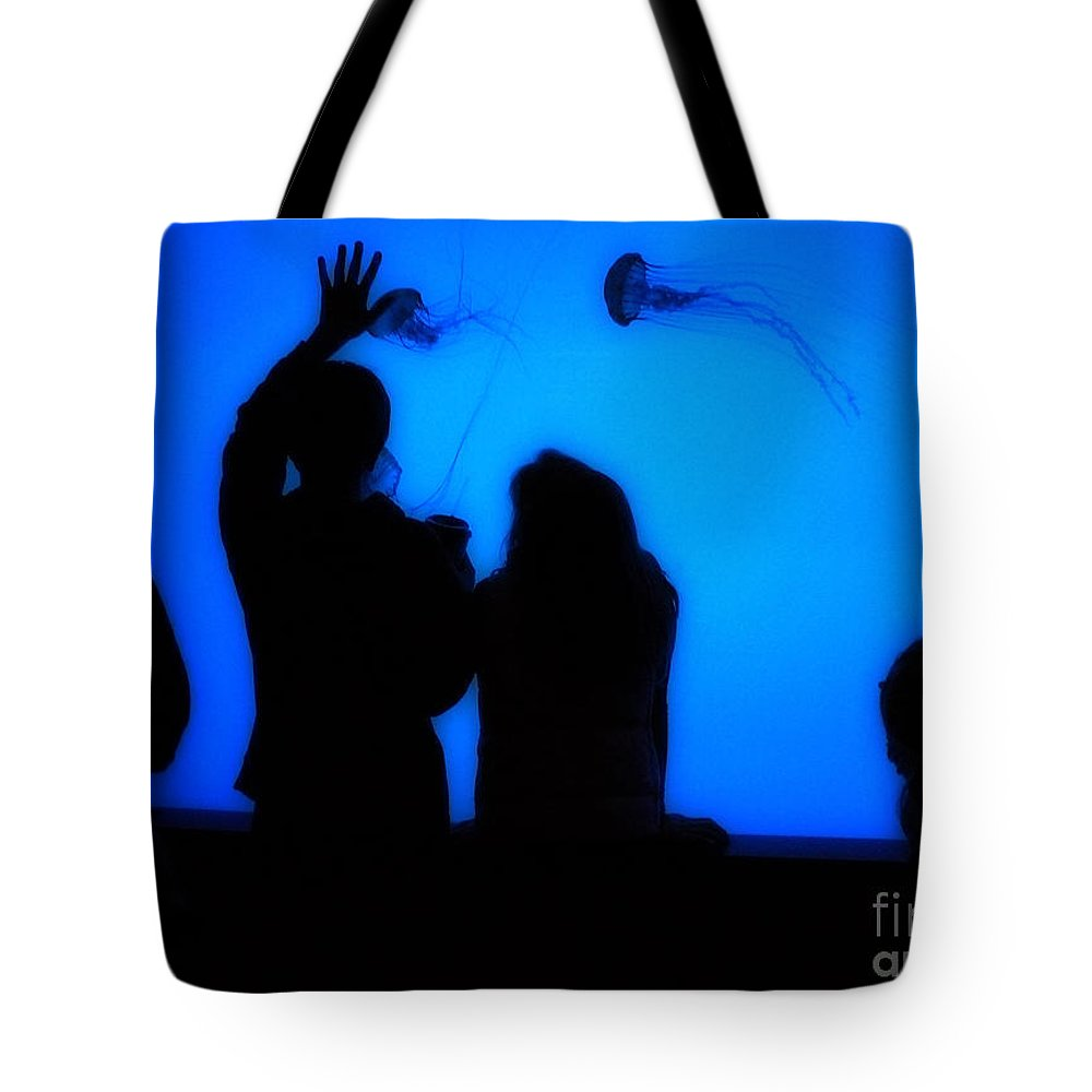 Jellyfish Tote Bag featuring the photograph Jellyfish 1 by Jeff Breiman