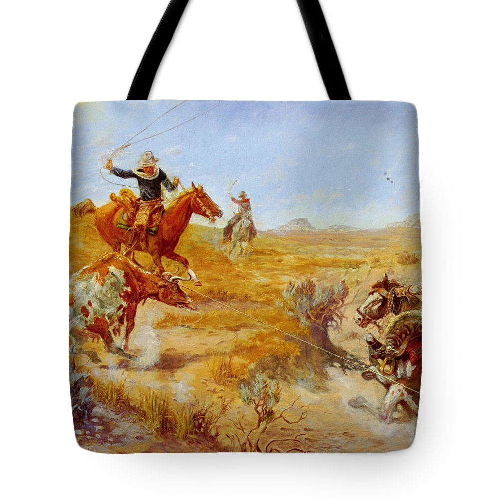Jerked Down Tote Bag featuring the digital art Jerked Down by Olaf Seltzer