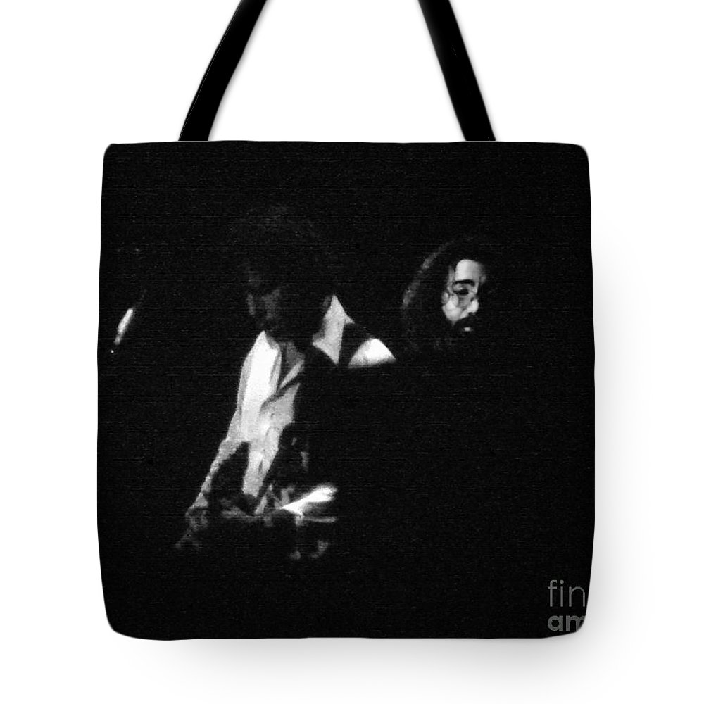 Music Tote Bag featuring the photograph Jerry Garcia - Space Your Face by Susan Carella