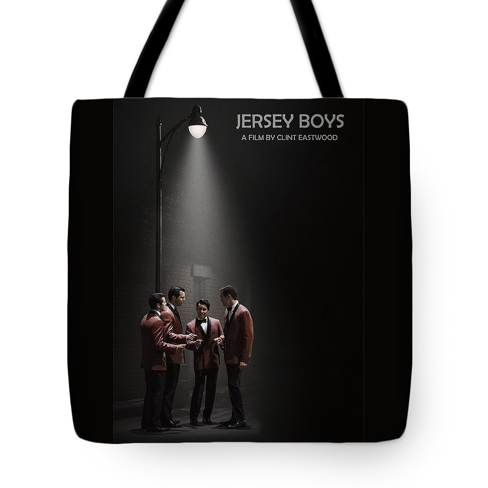 Jersey Boys Tote Bag featuring the photograph Jersey Boys By Clint Eastwood by Movie Poster Prints